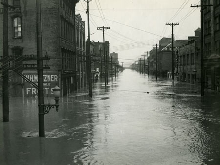 flooded street photo