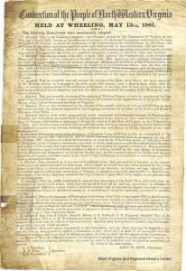 Resolutions of the First Wheeling Convention in 1861