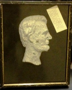 Relief bust sculpture of Abraham Lincoln