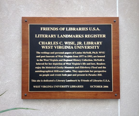 Louise McNeill Pease's Literary Landmark plaque