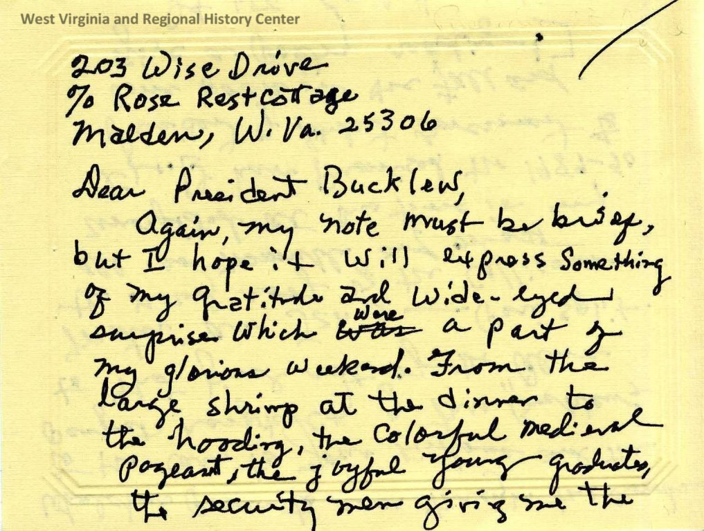 Letter from Louise McNeill Pease to Neil Bucklew, 1989