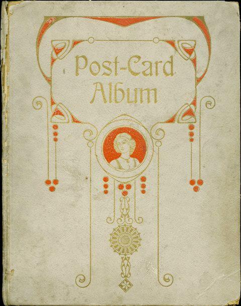 Cover of a gray postcard album
