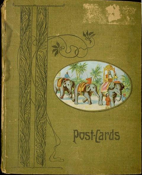Cover of a green postcard album