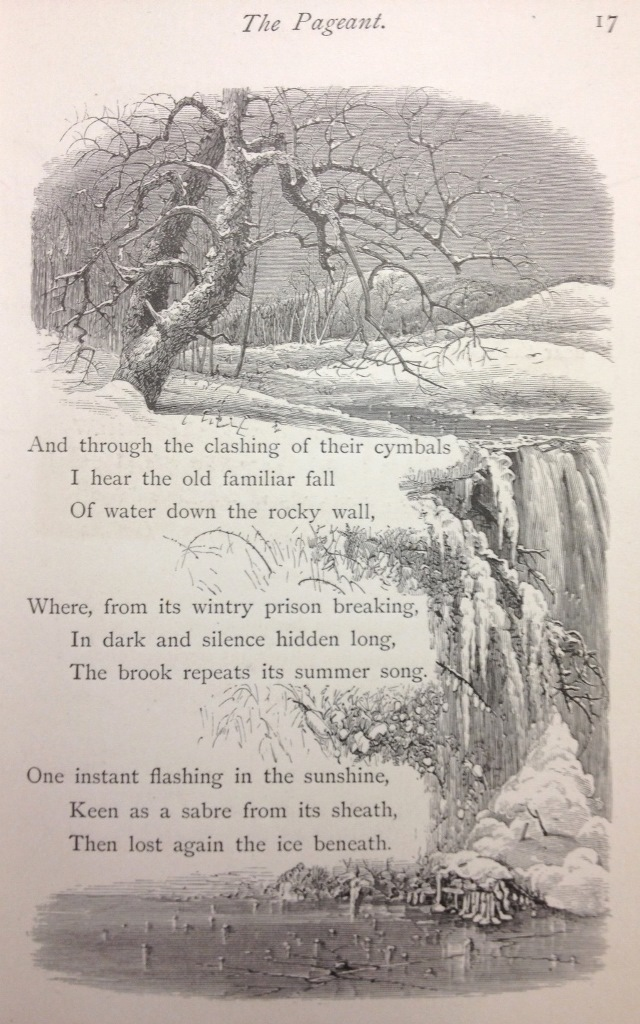 Page 17 Winter Poems, including illustrations by Harry Fenn