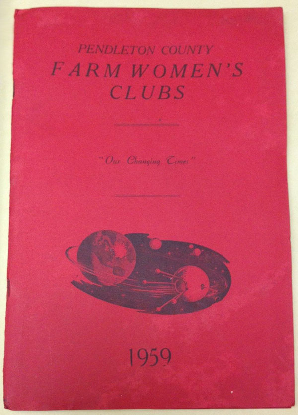 Cover of an information booklet for Pendleton County Farm Women's Clubs