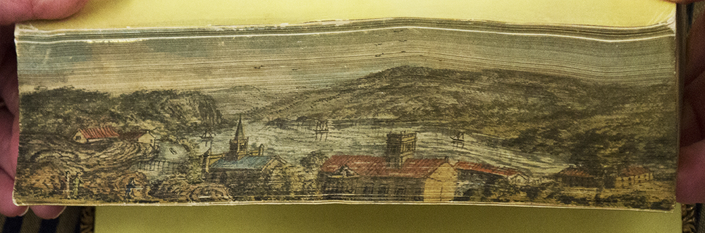 Fore-edge painting of Harpers Ferry