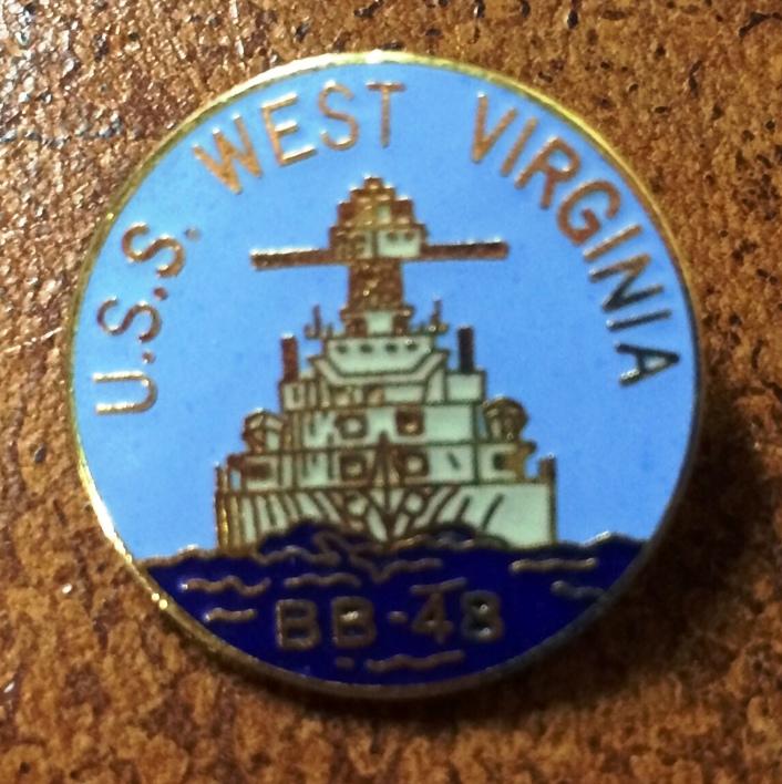 William Hand's USS WV Pin