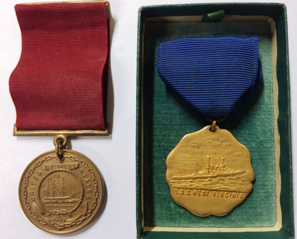 William Hand's Navy Medals