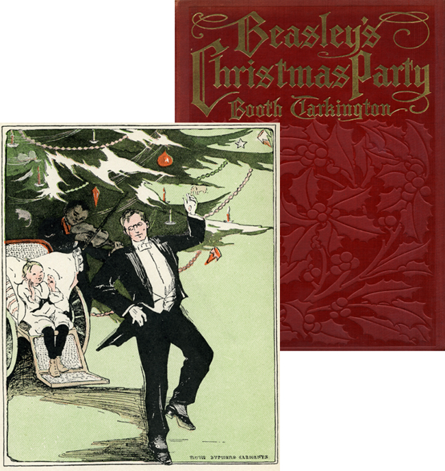 Beasley's Christmas Party book cover and illustration