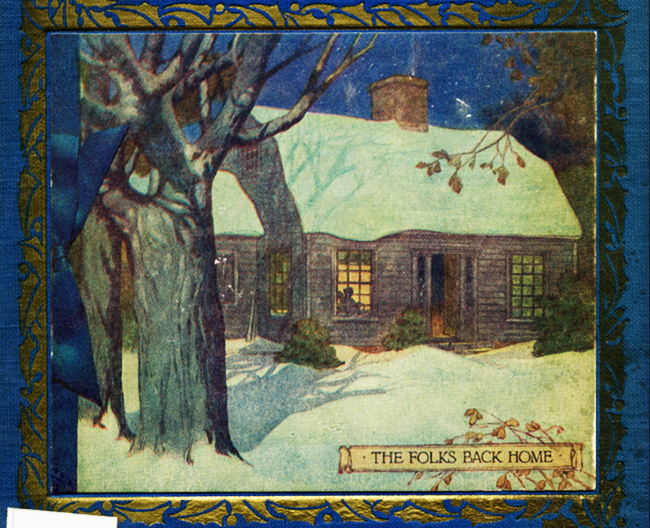 Book Cover of Kate Douglas Wiggin's The Romance of the Christmas Card