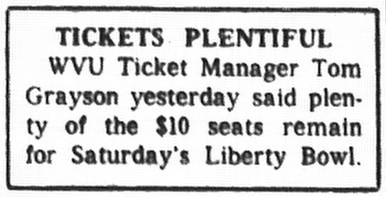 """Tickets Plentiful"" ad"