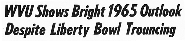 Headline from Morgantown Post  in 1964