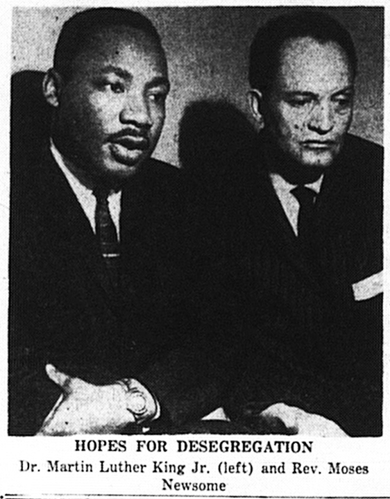 Martin Luther King, Jr. and Moses Newsom