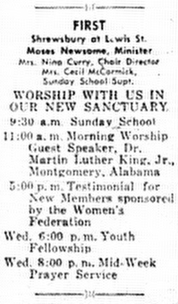 Clipping from Martin Luther King, Jr.'s visit to Charleston