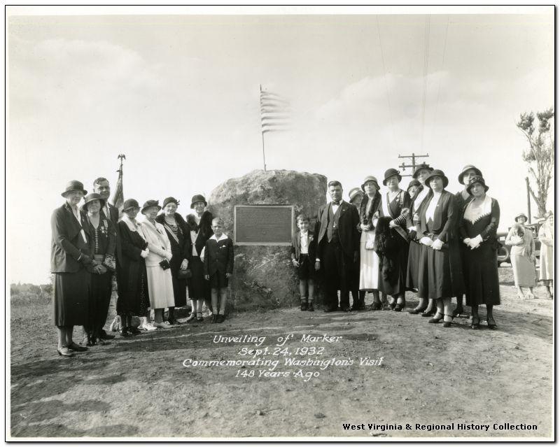 Unveiling of Marker Commemorating George Washington's Visit, Monongalia County, W. Va.