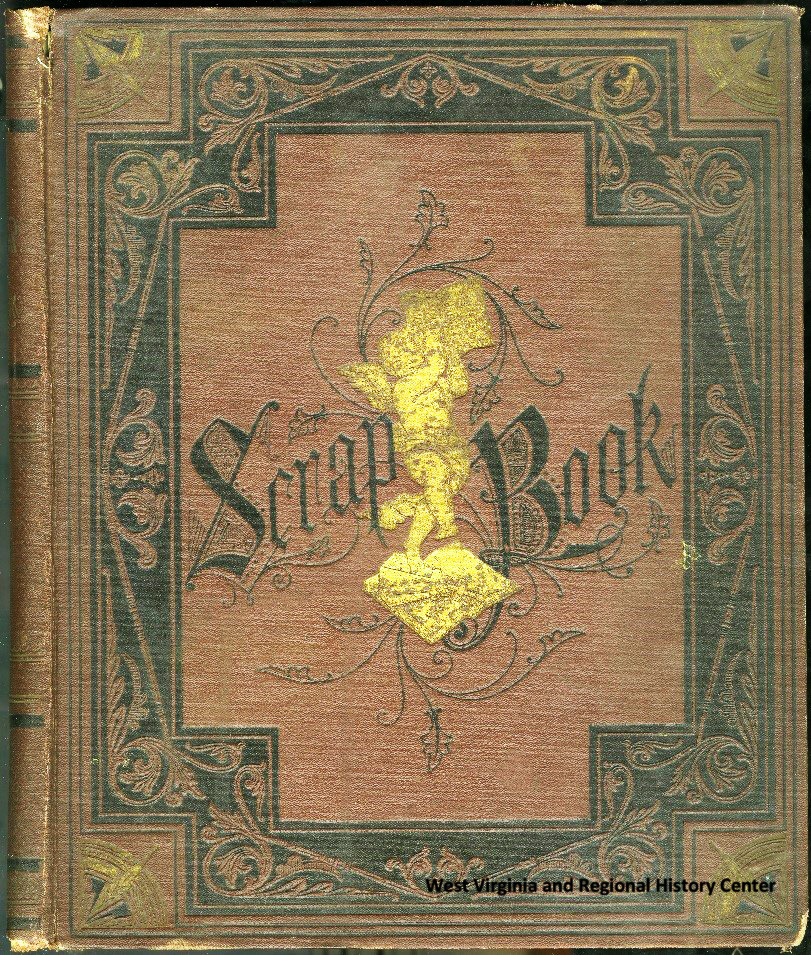 Cover of a patented Mark Twain Scrapbook
