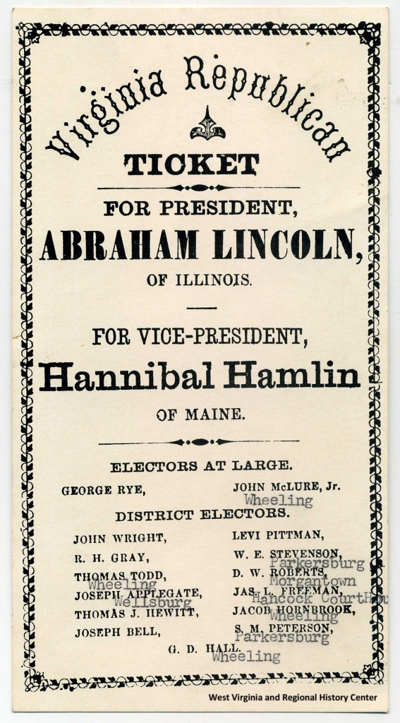 Virginia Republican Ticket for 1860