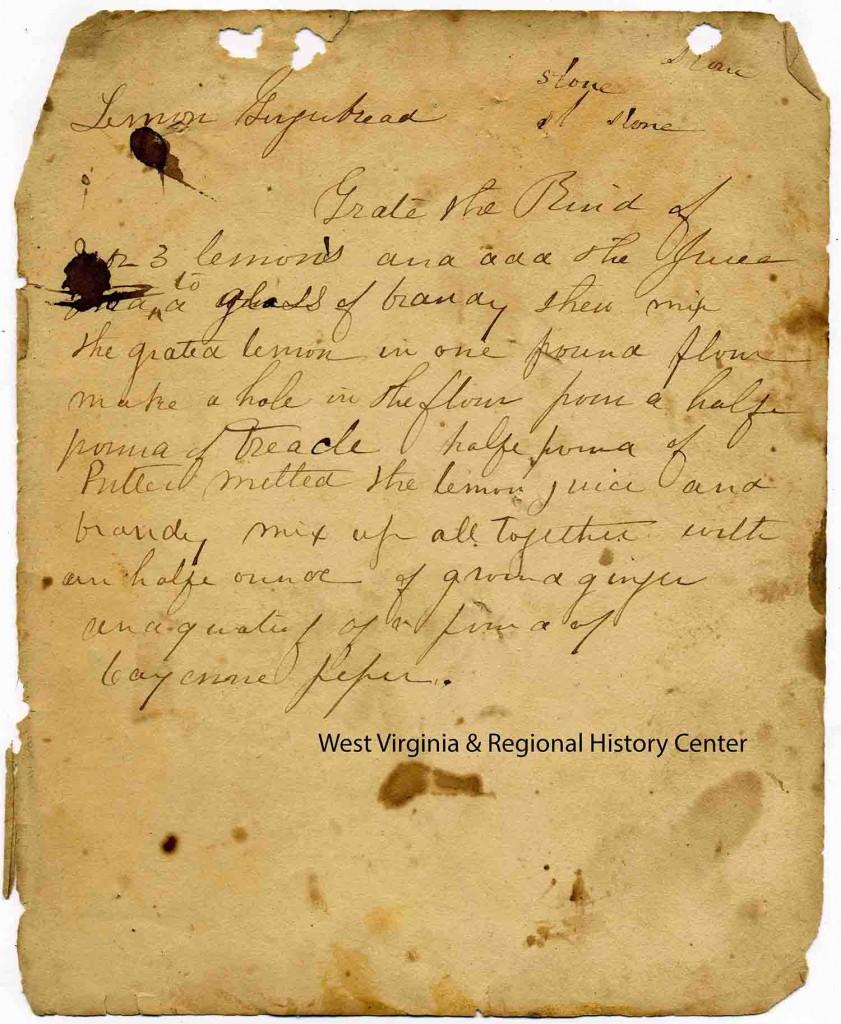 Original Lemon Gingerbread recipe from Lucy Washington's Cookbook
