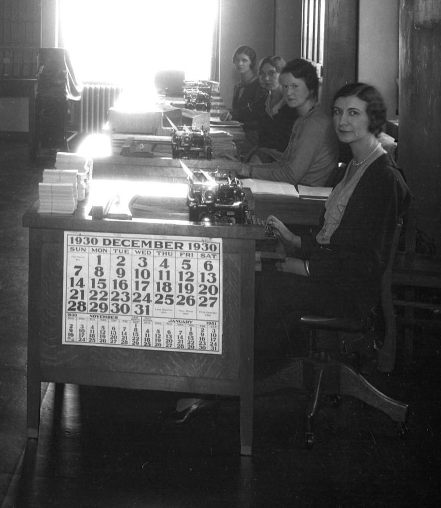 Women at typewriters
