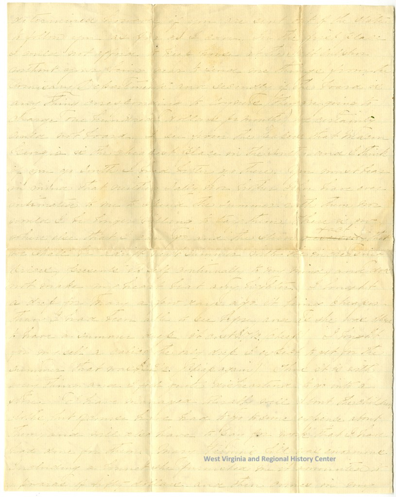 Handwritten letter from Sue Patton to her husband, page 2