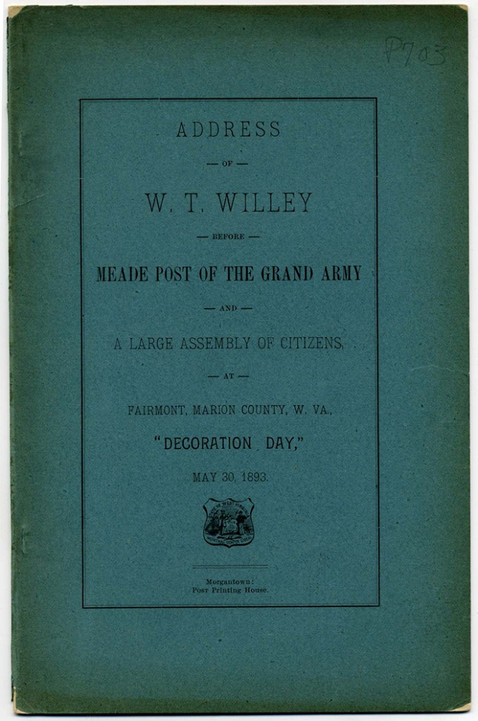 Front cover of Address of W.T. Willey Before Meade Post of the Grand Army, 1893