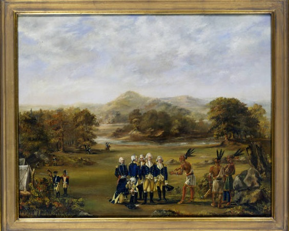 Oil Painting of Treaty of Greenville