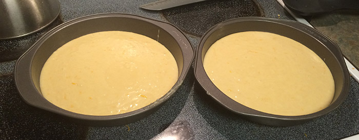 Two tins of batter