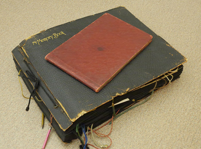 Lucy Shuttleworth's scrapbook and diary