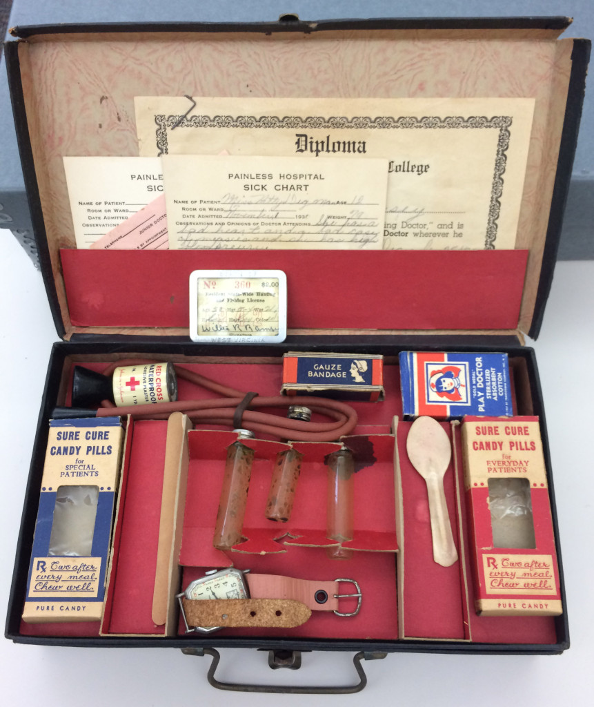 Inside of Ms. Ramsey's Little Country Doctor play kit
