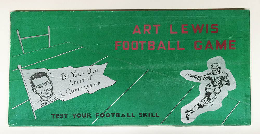 Box top of Art Lewis Football Game