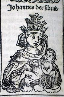 Pope Joan woodcut portrait