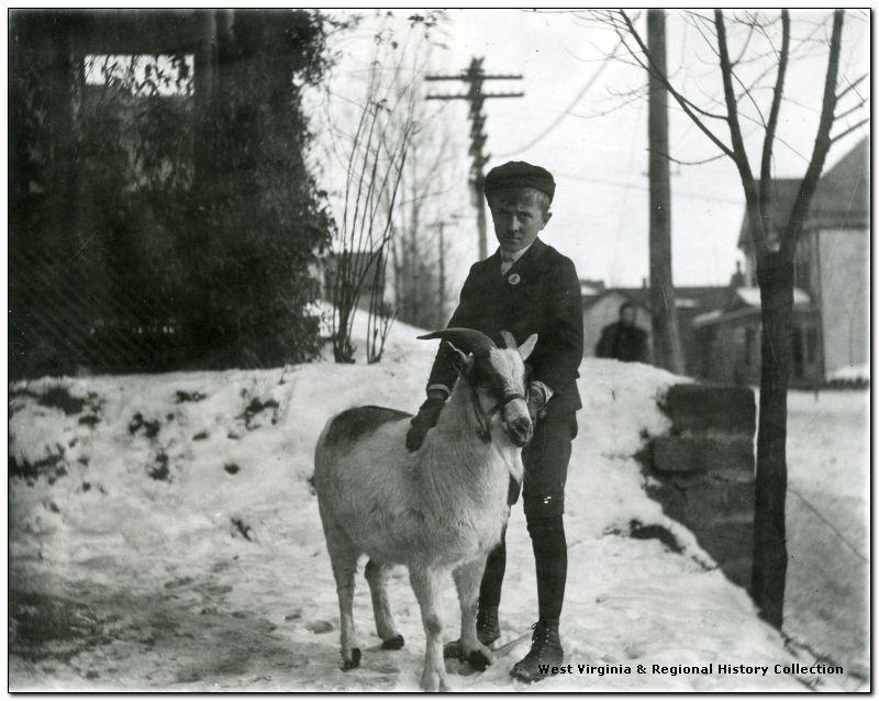 Morgantown Boy With Pet Goat, Morgantown, W. Va.