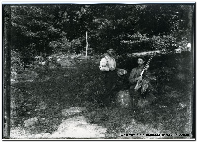 Hunters in Woods near Morgantown, W. Va.