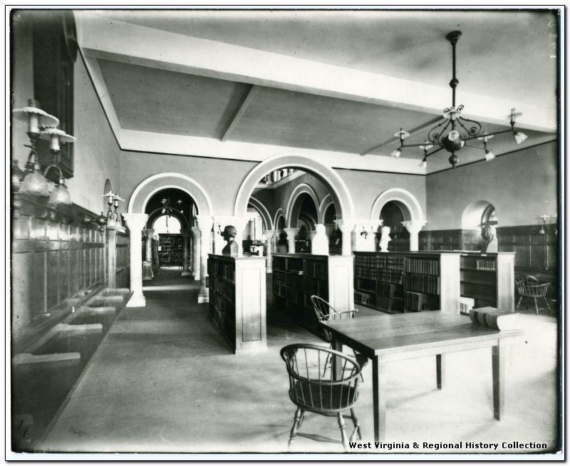 Interior View of Stewart Hall Library, West Virginia University