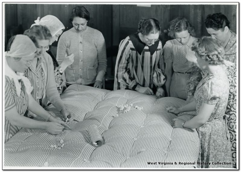 Ellis Studio, Weston, W. Va.; Portrait of Women in Mattress Making Program
