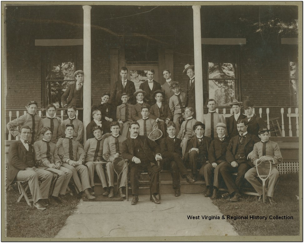 Group Portrait of Residents from Episcopal Hall at West Virginia University, Morgantown, W. Va.