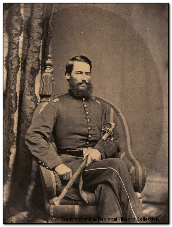 Seated portrait of Major Fabricius A. Cather, 1st West Virginia Cavalry