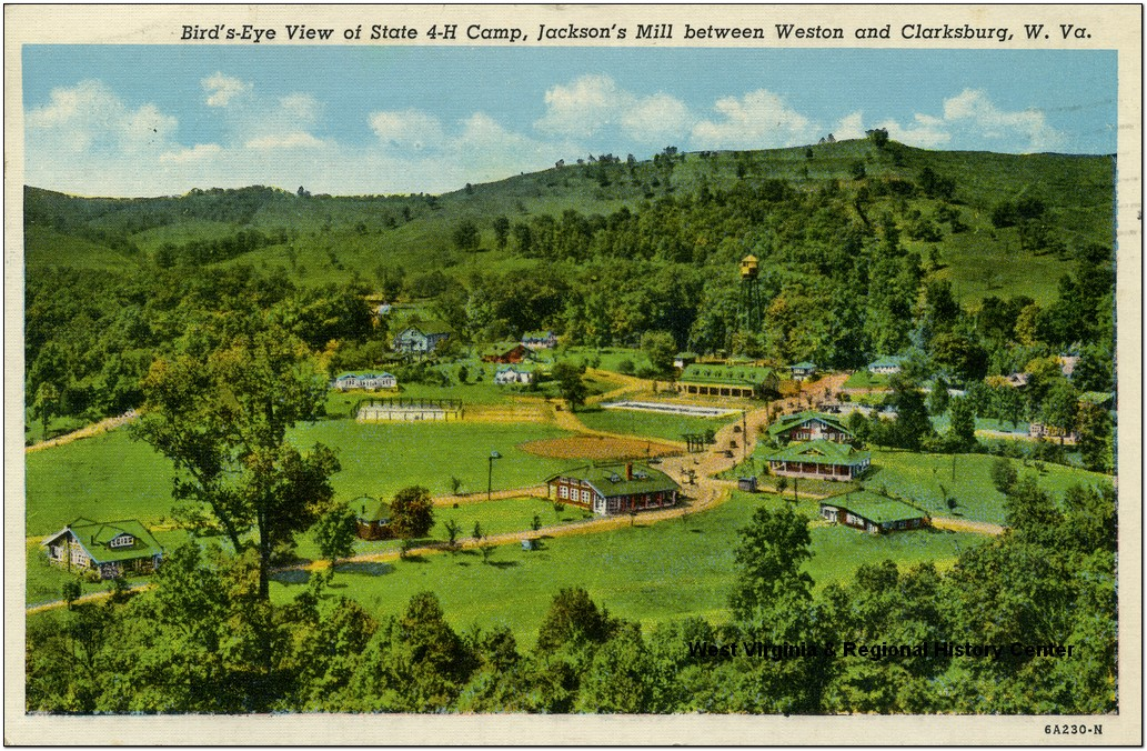 Bird's Eye View of State 4H Camp, Jackson's Mill; Between Weston and Clarksburg, W. Va.