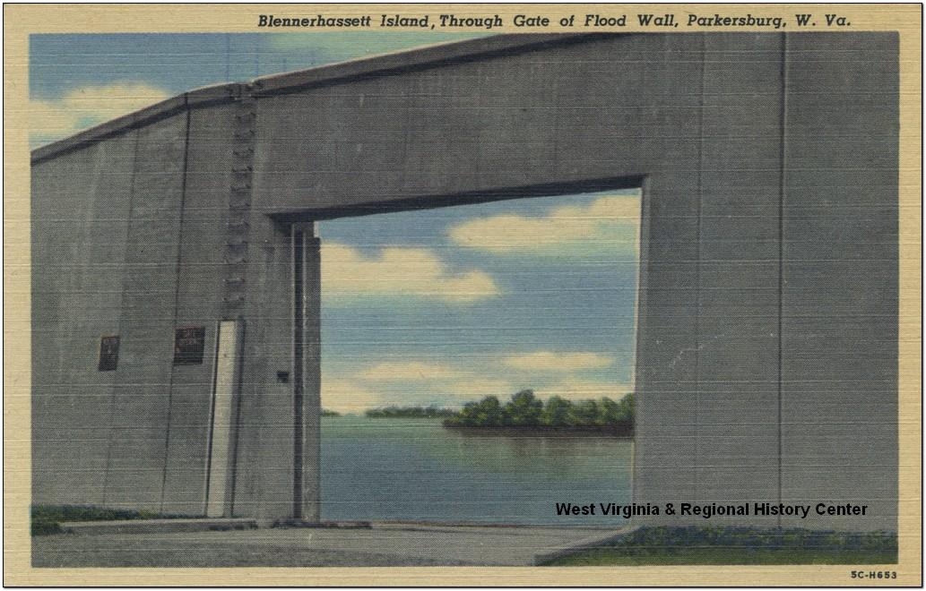 Blennerhassett Island, Through Gate of Flood Wall, Parkersburg, W. Va.