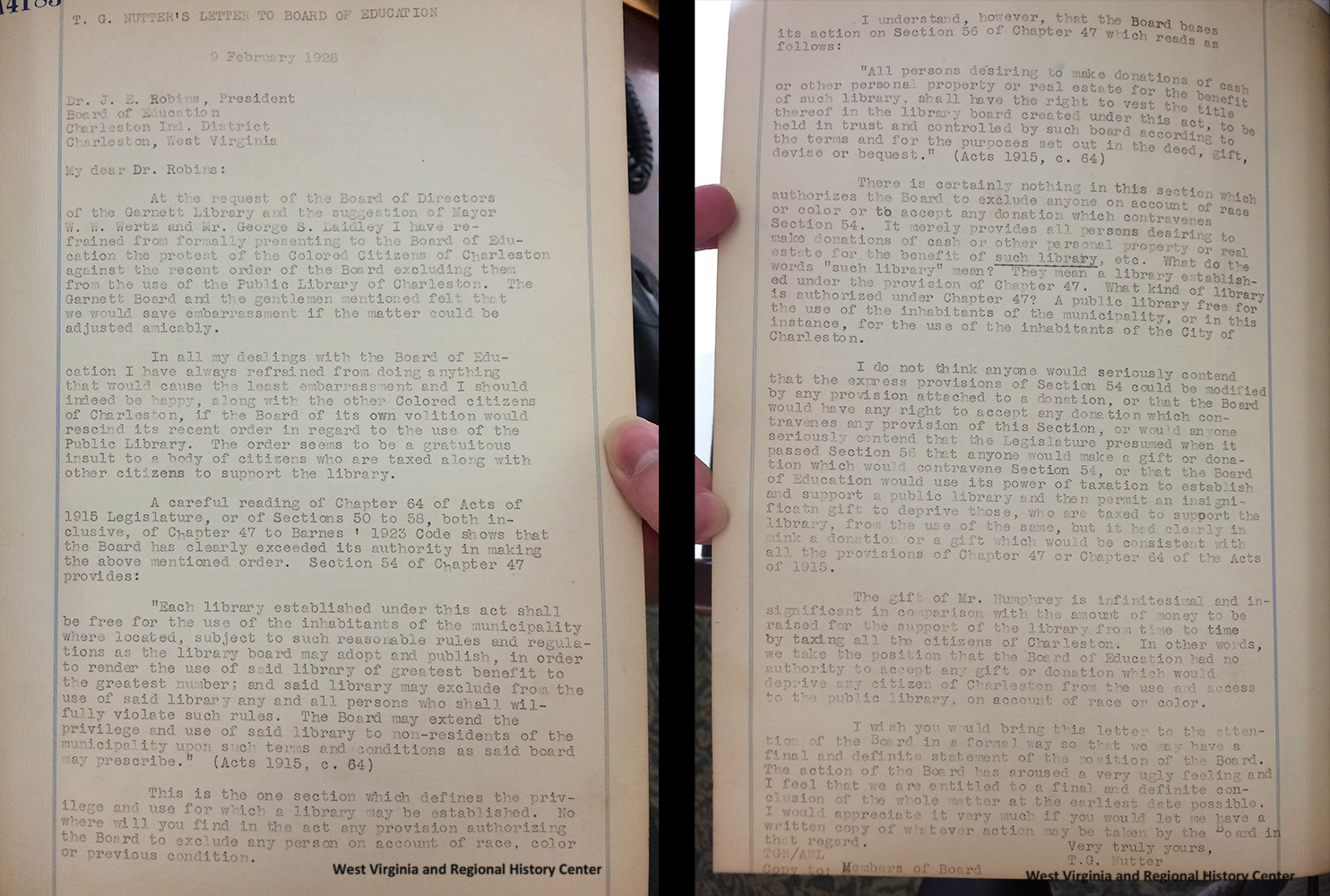 news wvu libraries letter in the minutes of charleston wv branch naacp