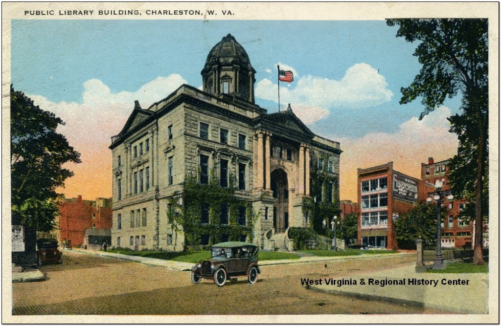 Postcard showing Charleston Public Library