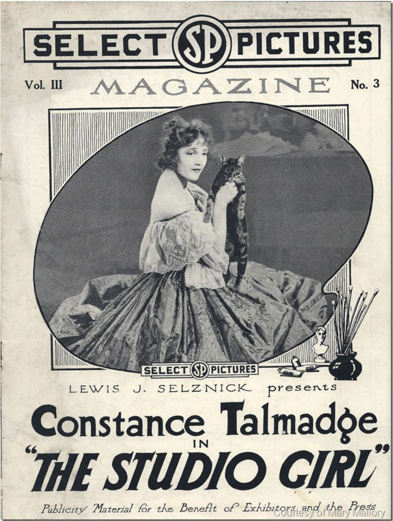Cover of Select Pictures Magazine, advertising Constance Talmadge in
