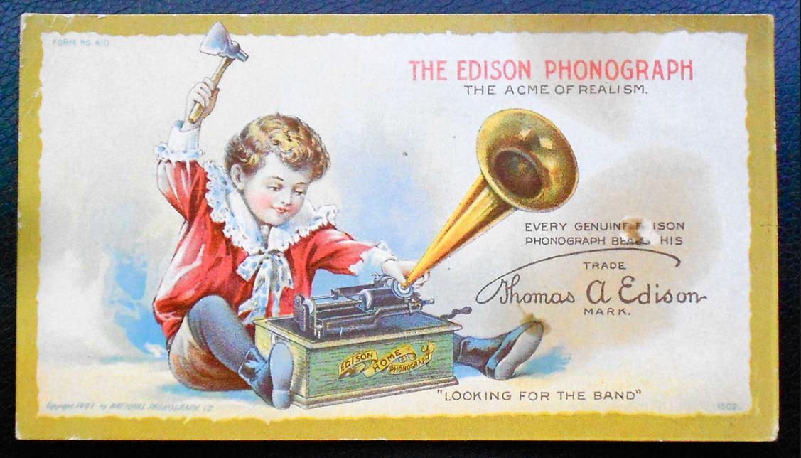 Edison Phonograph Advertisement