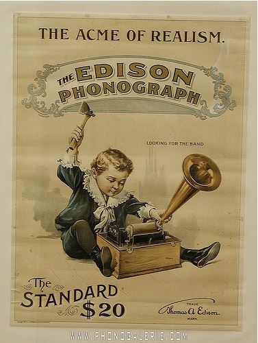 Affiches Posters Phonographe Edison 1899- 041