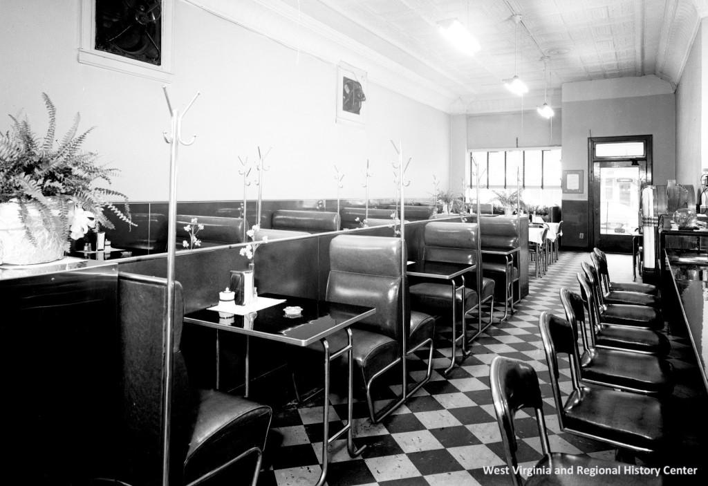 Inside of Sherman Restaurant, Charleston, West Virginia, ca. 1938-1945