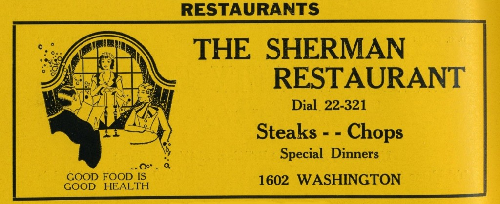 Sherman Restaurant add from a directory