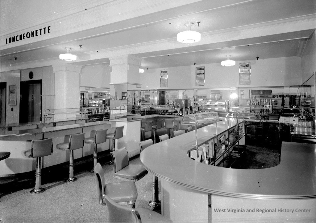 Inside of Luncheonette on the Street Floor of the Diamond Department Store, Charleston, West Virginia, ca. 1940s-1960s