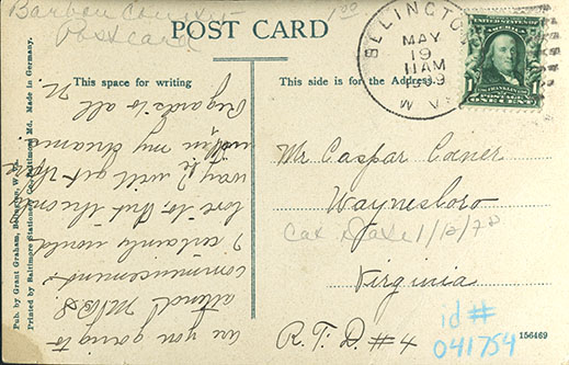 Postcard with divided back