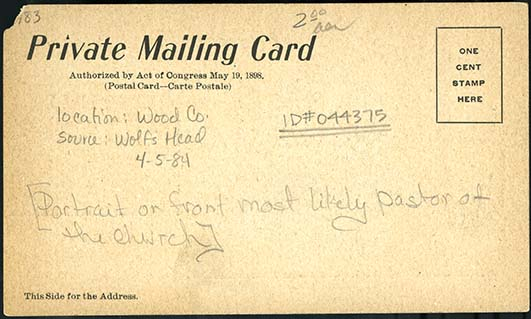 Address side of a Private Mailing Card postcard