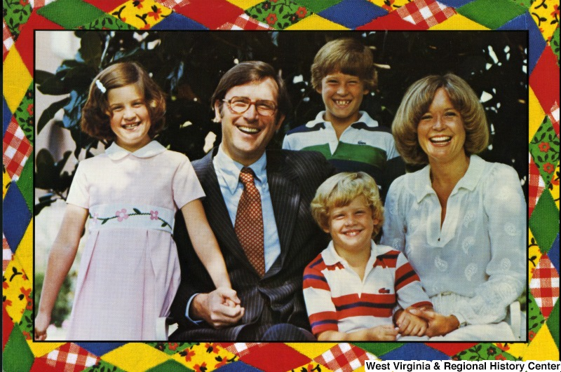 Image of Jay Rockefeller, wife, and three children